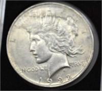 1922 Silver Peace Dollar XF