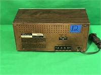 Yorx FM/AM Electronic Clock Radio/8Track Player