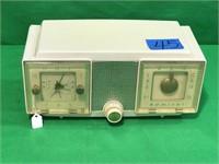 Admiral Telechron Alarm Clock Radio
