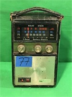Solid State 3- Band, Battery-Electric Radio