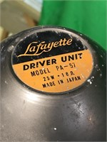 2 Lafayette Driver Unit University Loud Speakers