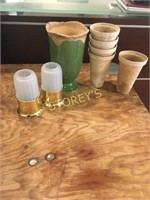 Vases, Brass Candle Holders, Etc.