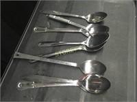 8 Asst Serving Spoons