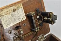 Antique Oak Wall Phone
