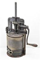 Antique Case Iron Hand Crank Sausage Lard Press