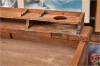 J & P COATS Oak 4-Drawer Spool Cabinet