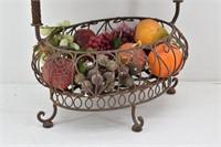 (2 Tiered) Metal Scroll Decor Fruit Basket