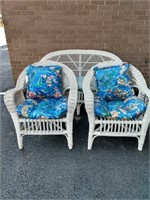 3 Pc Wicker Set ~ Settee, 2 Chairs