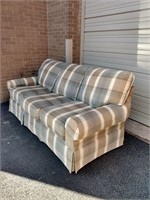 "Masterfield Plaid 3 Cushion Sofa 86""L"