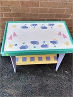 """Paint Decorator Table 23.5""""Hx25""""Wx15""""D"""
