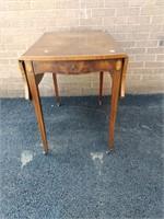 Mahogany Inlaid Drop Leaf Table