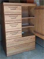 "Palliser Oak Wardrobe 54""Hx36""Wx18""D"