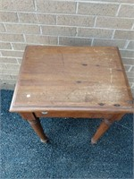 "Oak Turn Leg Table 28""x19.5""x15"""