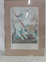 """Dali Framed Print """"The Lance of Chivalry"""""""