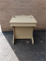 Painted Davenport Writing Desk & Chair
