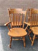 """(4) Maple Dinette Chair Stamped """"SK"""""""