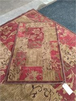 Machined Area Rug and Mat Used