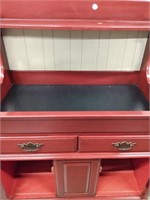 Maroon Colored Repro Dry Sink