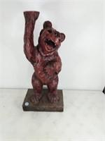 Bear Stand Resin Split on Side of Bear