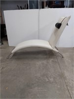 """Iker Leather Chaise, 69"""" long"""
