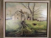 Oil on Canvas, Landscape G.H. Stone