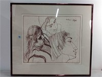 """Etching, Signed & Numbered Image 19""""x22"""""""