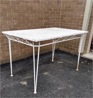"""Wrought Iron Patio Table 29.5""""Hx48""""Wx30""""D"""