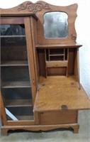Larkin Side by Side Desk, Glass Broken,