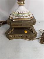 Pr Capodimonte Porcelain Table Lamps