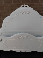 White Painted Double Bed, head & Foot Loose