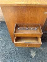 Oak Cabinet Singer Treadle Sewing Machine
