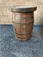 "PR Strapped Barrel Stools 18.5""H"