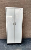 "Metal Storage Cabinet, some dings 63""H"