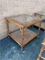 Lane Reeded Leg Coffee & End Tables w/Beveled