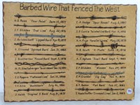 Collection of Barbed Wire Types,  board damaged