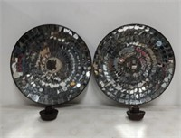 Pr. Mirrored Wall Sconces