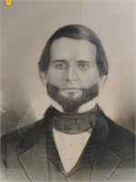 "Framed Portrait 19.5""Hx15""W Early Victorian"