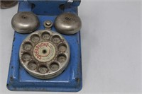 Vtg. SPEED PHONE Rotary Toy Phone- Gong Bell Co.