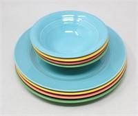 (8) Homer Laughlin Harlequin Plates & Bowls