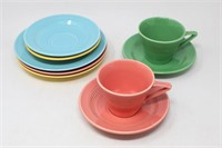 Homer Laughlin Harlequin Rose & Green Coffee Cup..