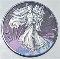 2017 American Eagle Dollar 1oz 999 Silver  Colored