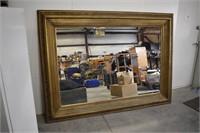 Beautiful Giant 5'x7' Gold Frame Bevel Edge Mirror
