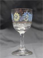 Cruet Decanter Hand Painted w/Tray & Shot Glasses