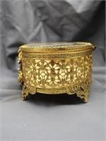 (2) Ornate Brass Jewelry Boxes