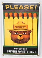 Only You Can Prevent Forest Fires Sign 1988
