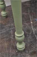 Small Green Painted Two Drawer Vanity