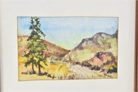 Pair of Small Original Signed Watercolor Paintings