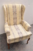 Queen Anne Rolled Arm High Back Chair