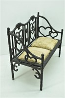 """Wrought-Iron """"Adorable"""" Doll Bench"""