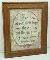Framed Bible Verse